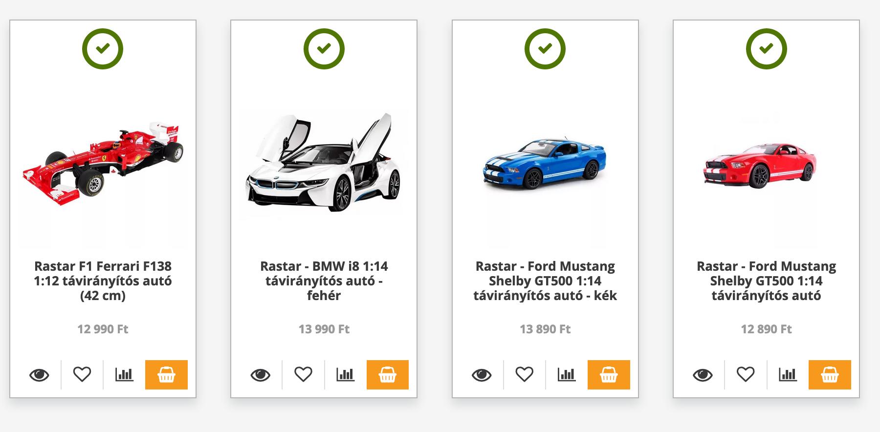 távirányítós autók